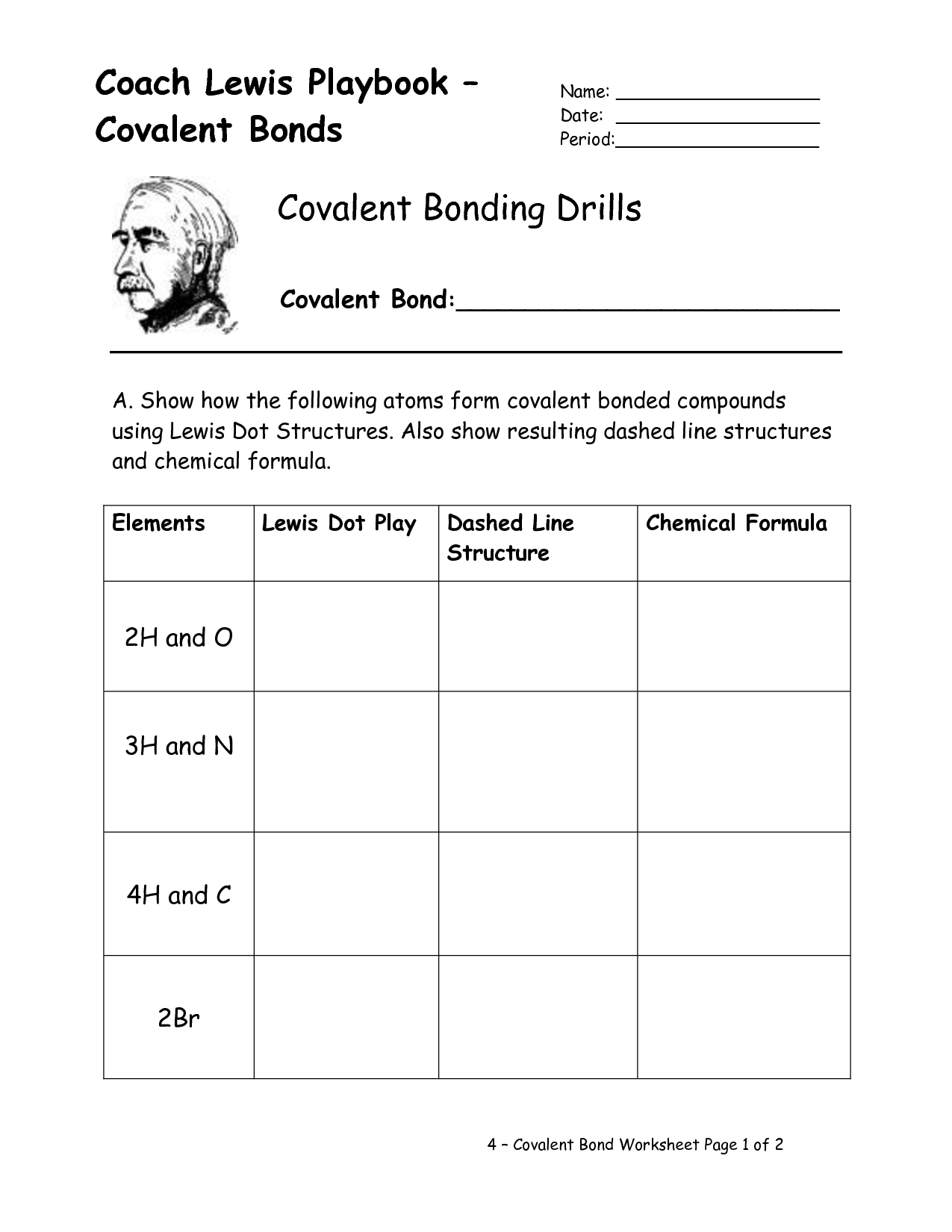 16 Best Images Of Types Of Chemical Bonds Worksheet Answers