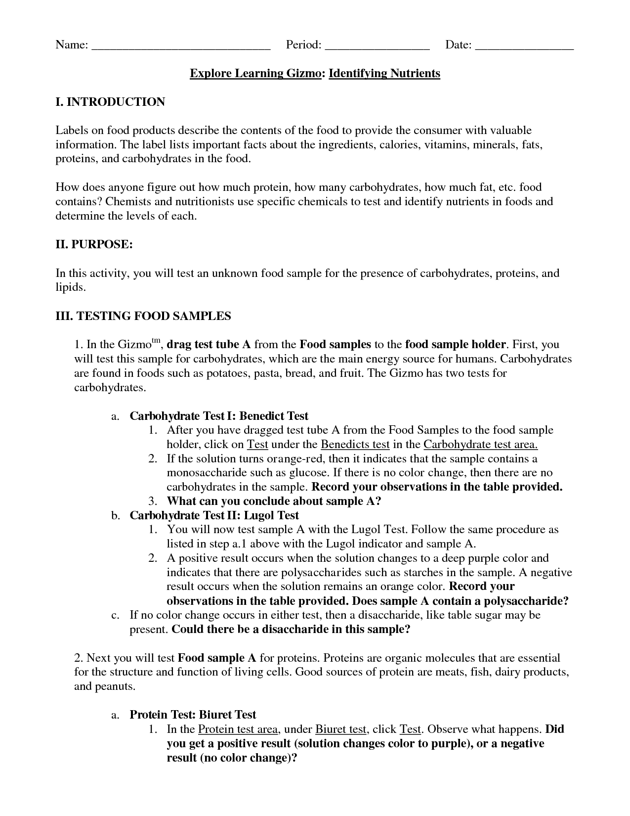 14 Best Images Of Macromolecule Worksheet Biology Review