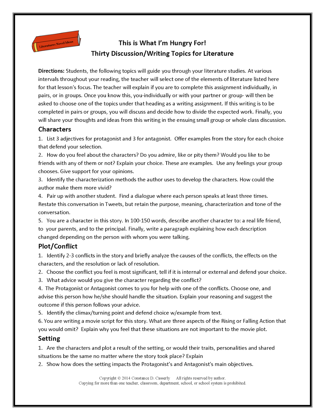 Reading Comprehension Worksheet Middle School