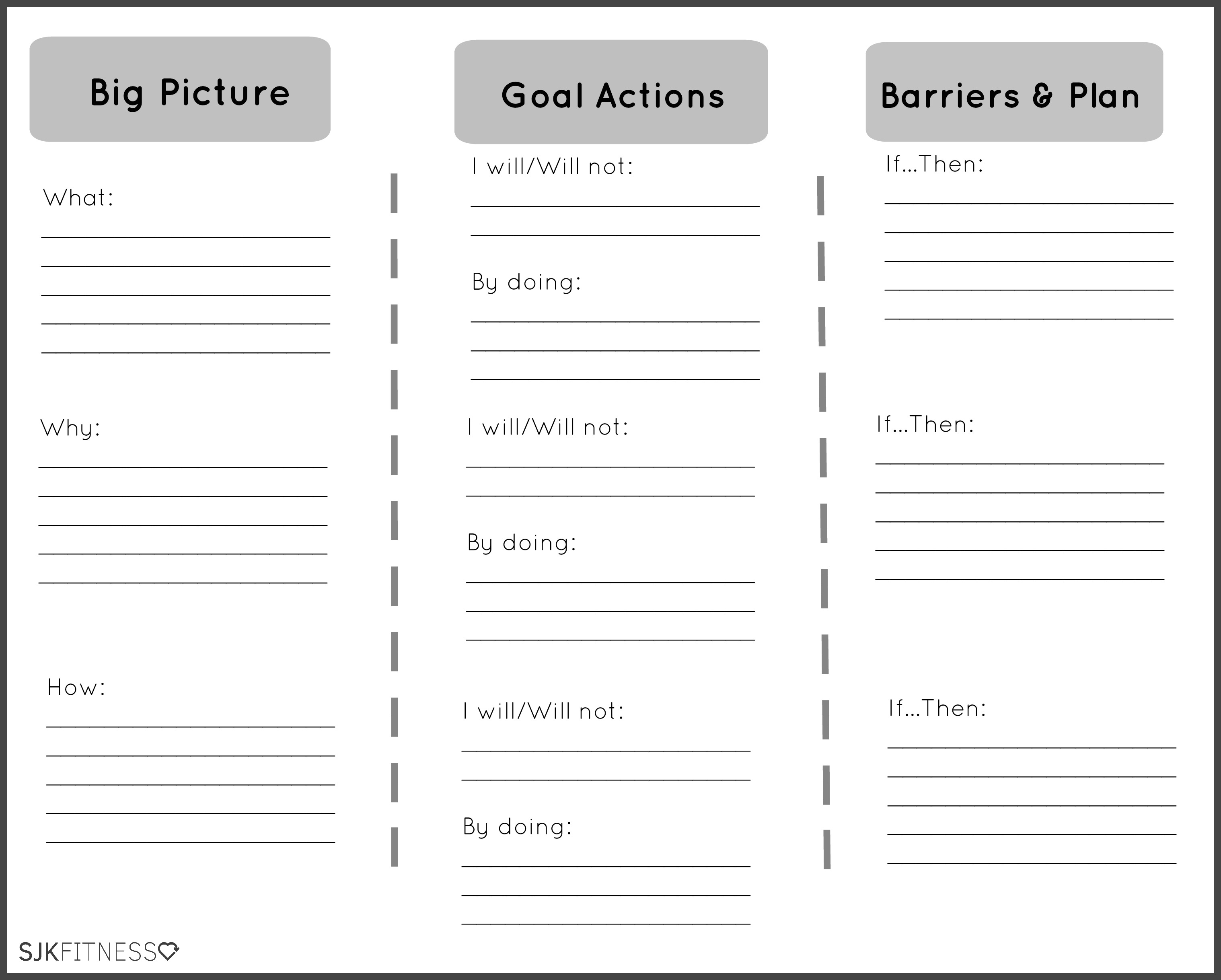 Mental Health Goals Template Most Effective Ways To