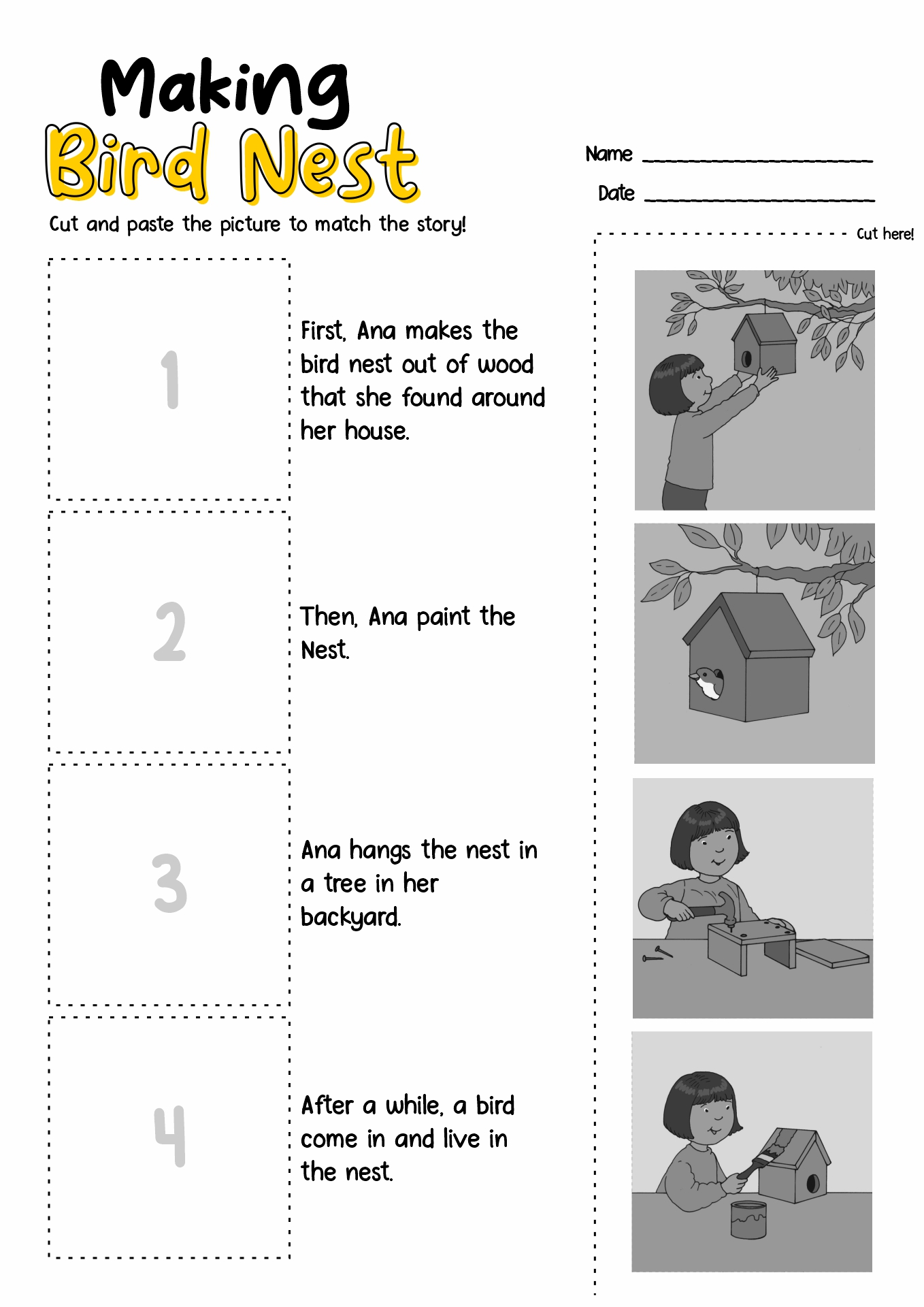 8 Best Images Of Cut And Paste Weather Worksheets