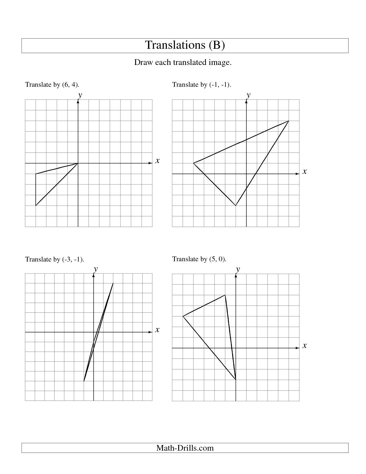 7 Best Images Of Geometry Translations Worksheet