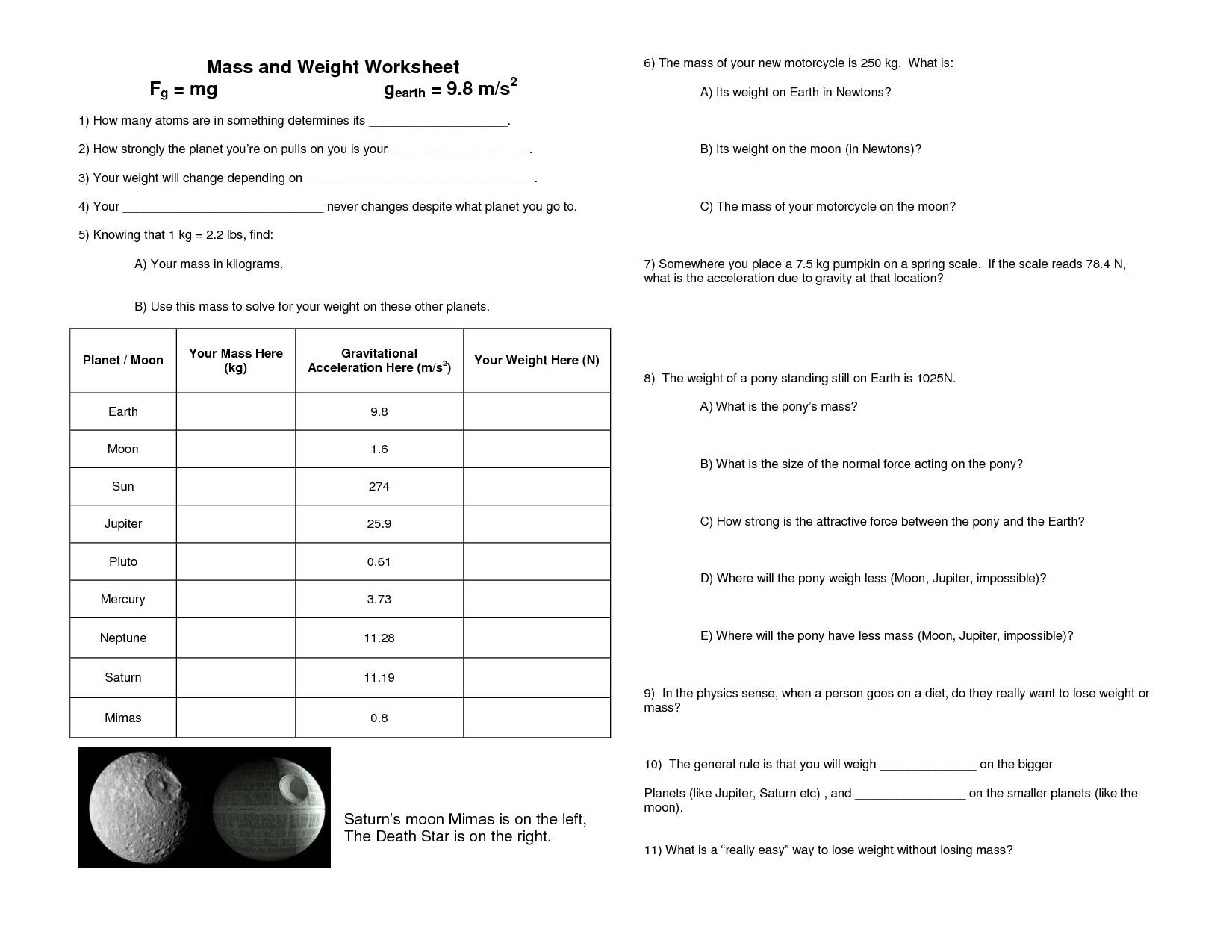 14 Best Images Of Bill Nye Gravity Worksheet Answers