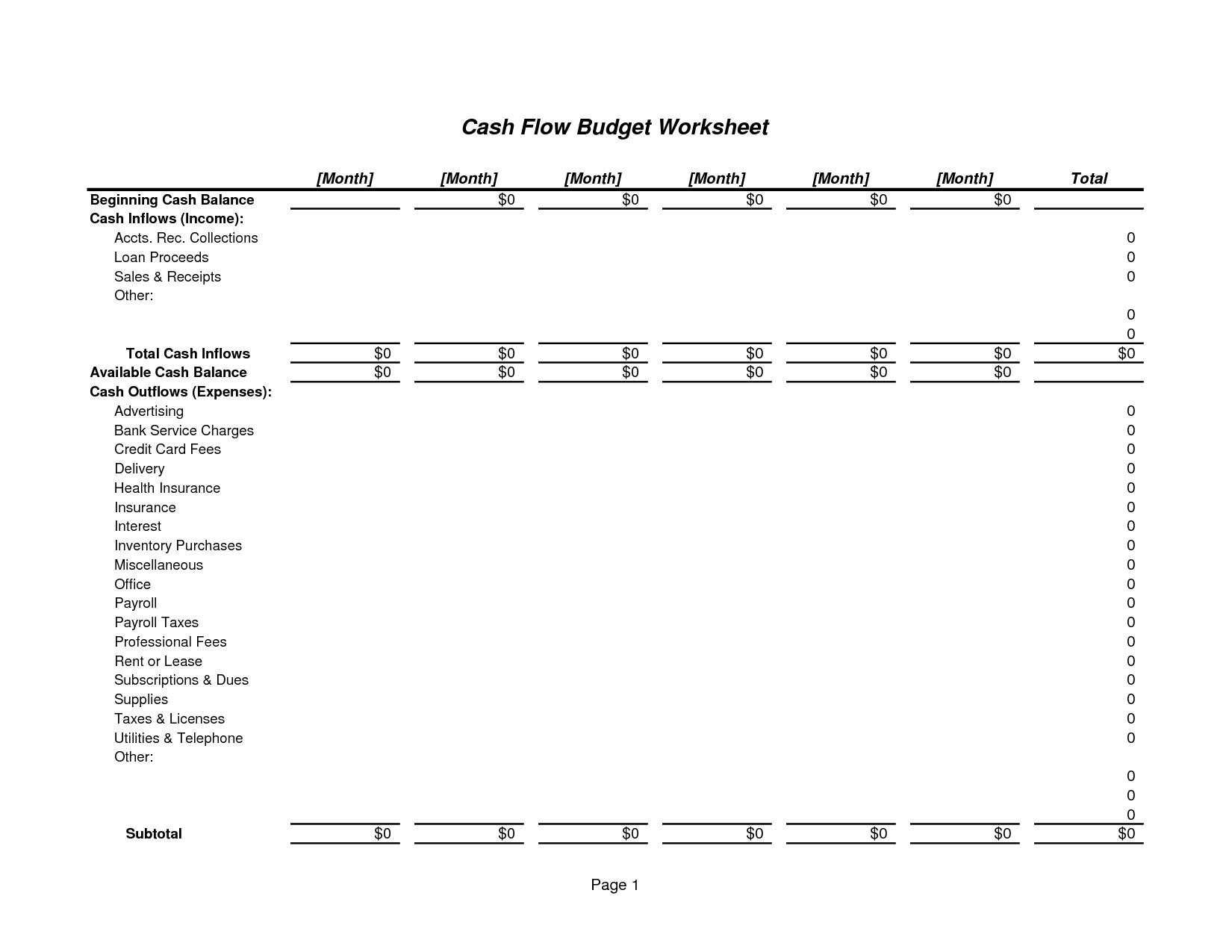 15 Best Images Of Excel Personal Budget Worksheet