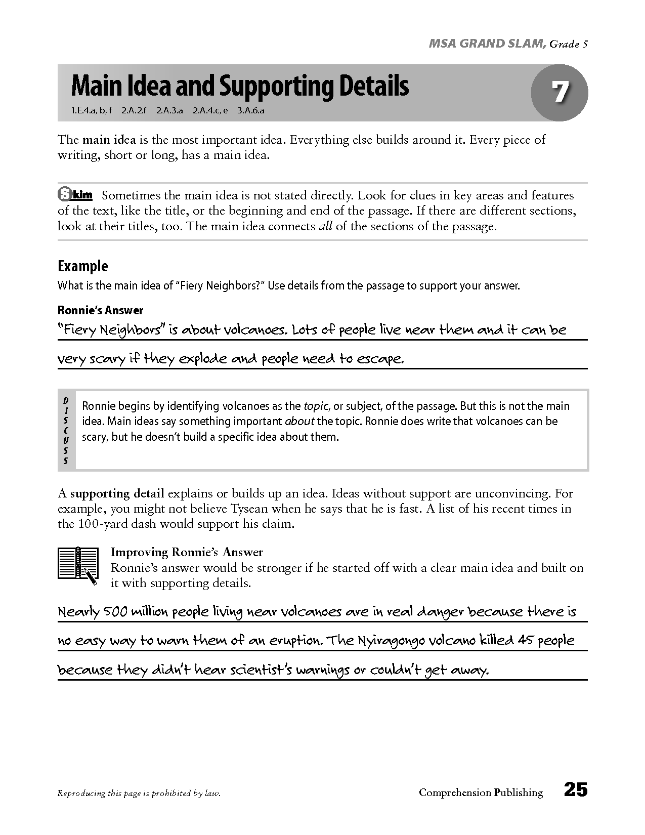10 Best Images Of Main Idea Worksheets