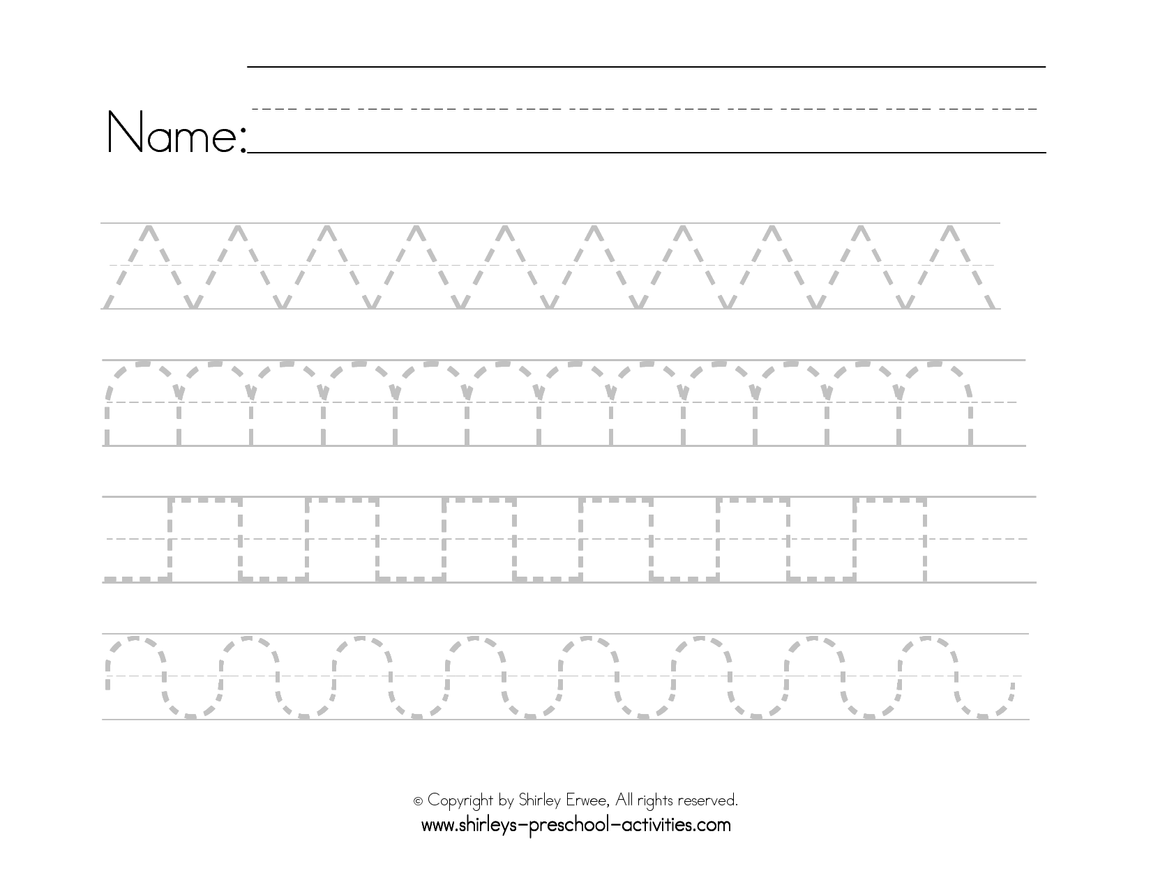 14 Best Images Of Pre K Handwriting Worksheets