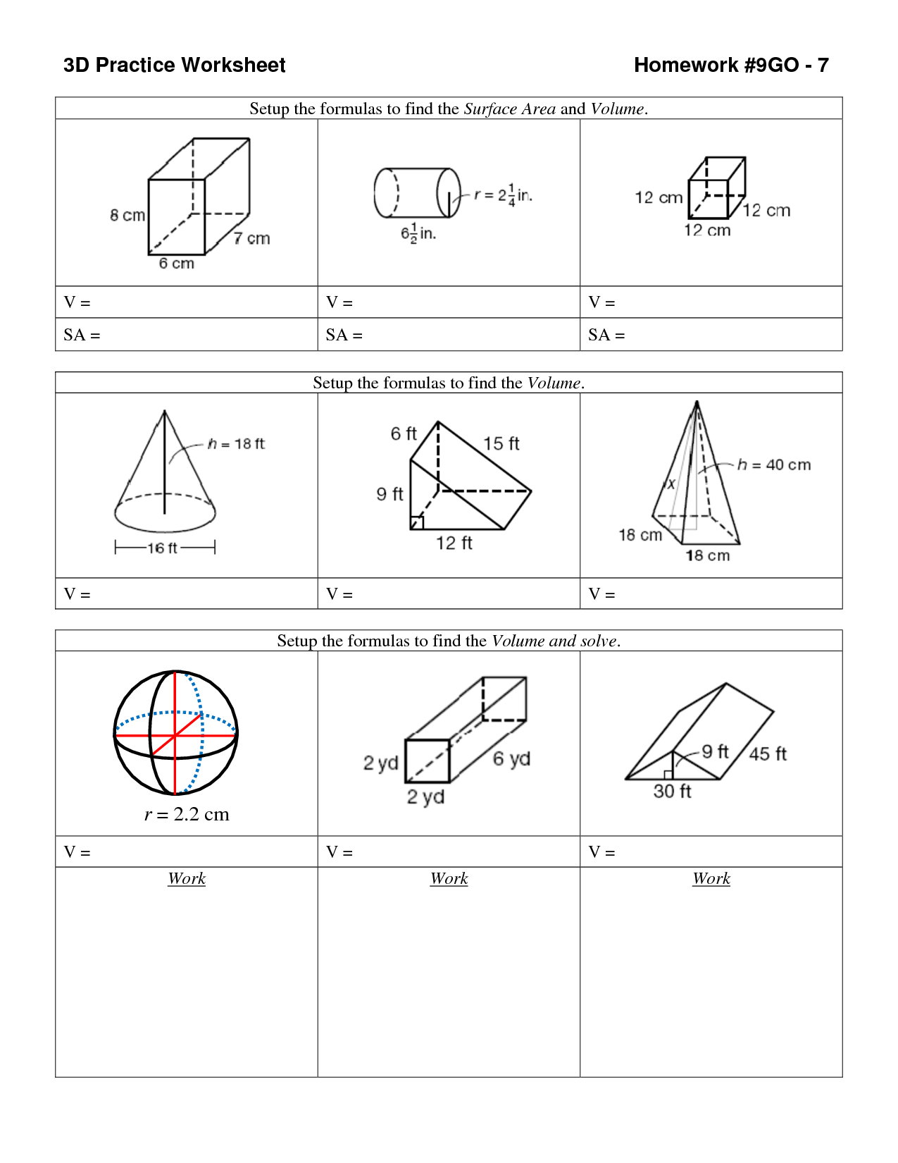 14 Best Images Of 3d Geometric Shapes Worksheet
