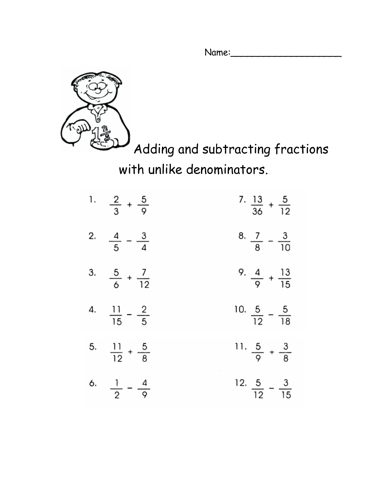 Adding Mixed Numbers Worksheet 2