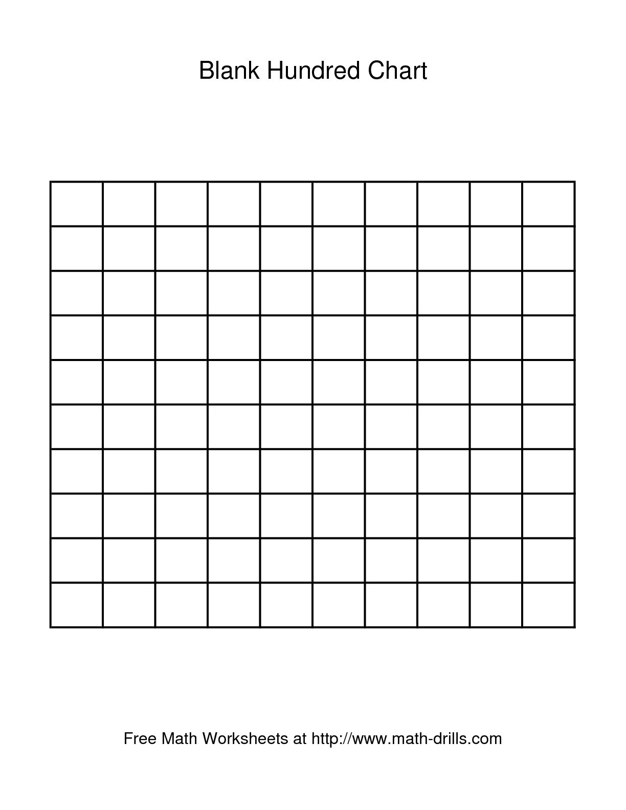 15 Best Images Of Blank Hundreds Chart Worksheet