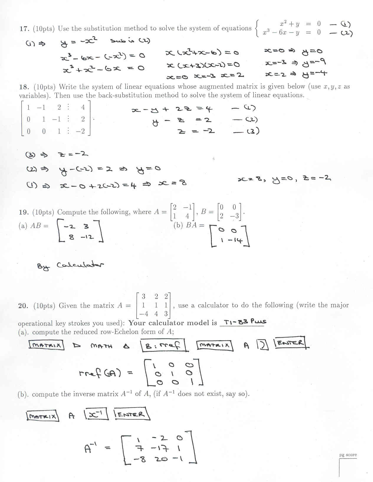 7 Best Images Of College Math Word Problems Worksheets