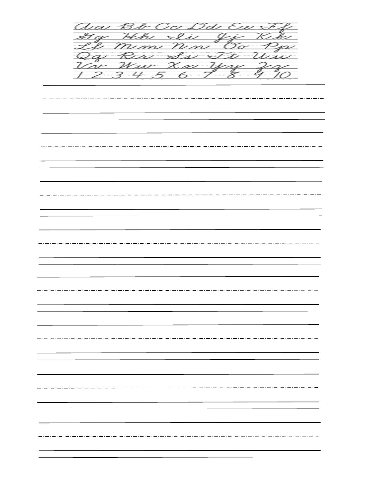 15 Best Images Of Free Printable Handwriting Practice