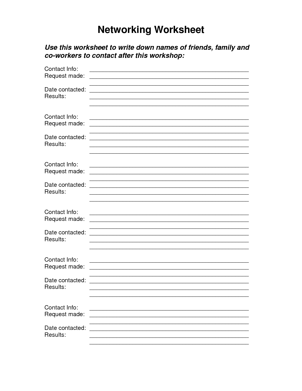 11 Best Images Of Job Search Worksheet