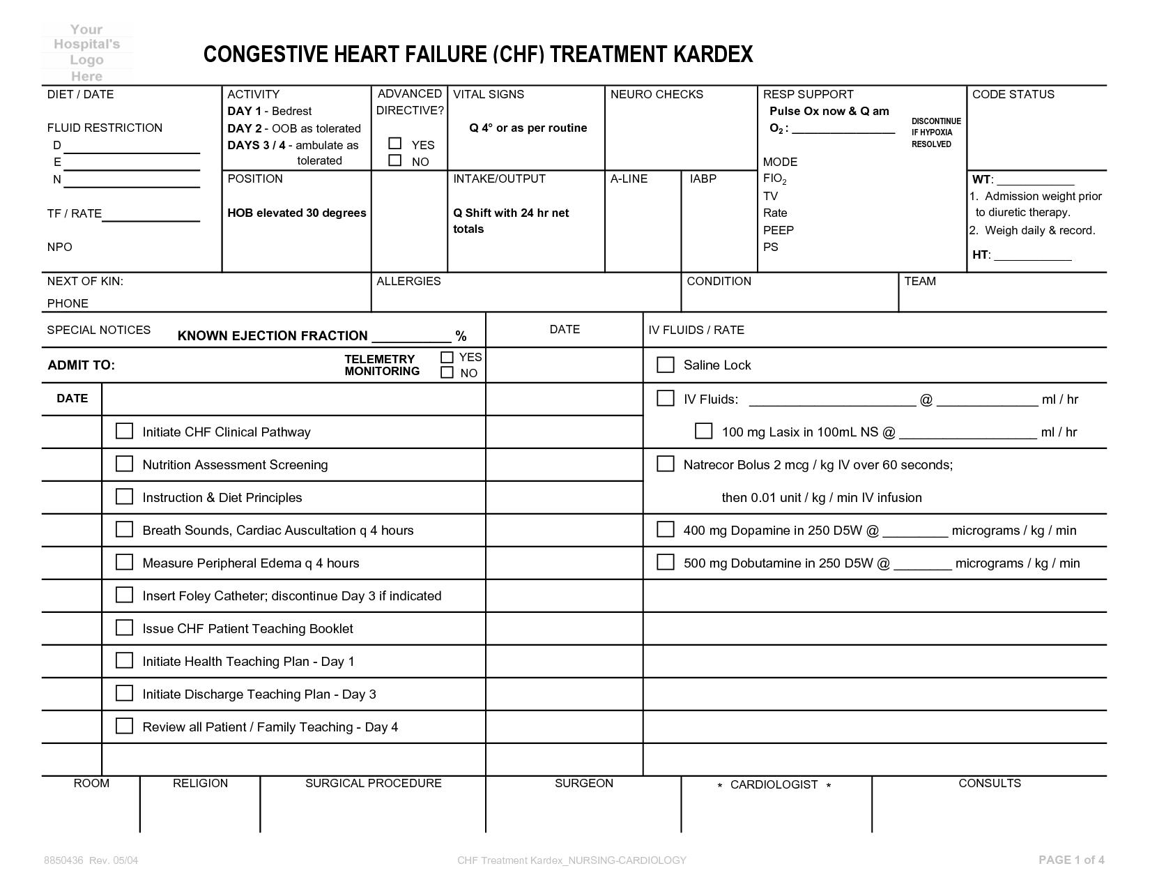 17 Best Images Of Daily Patient Care Worksheet