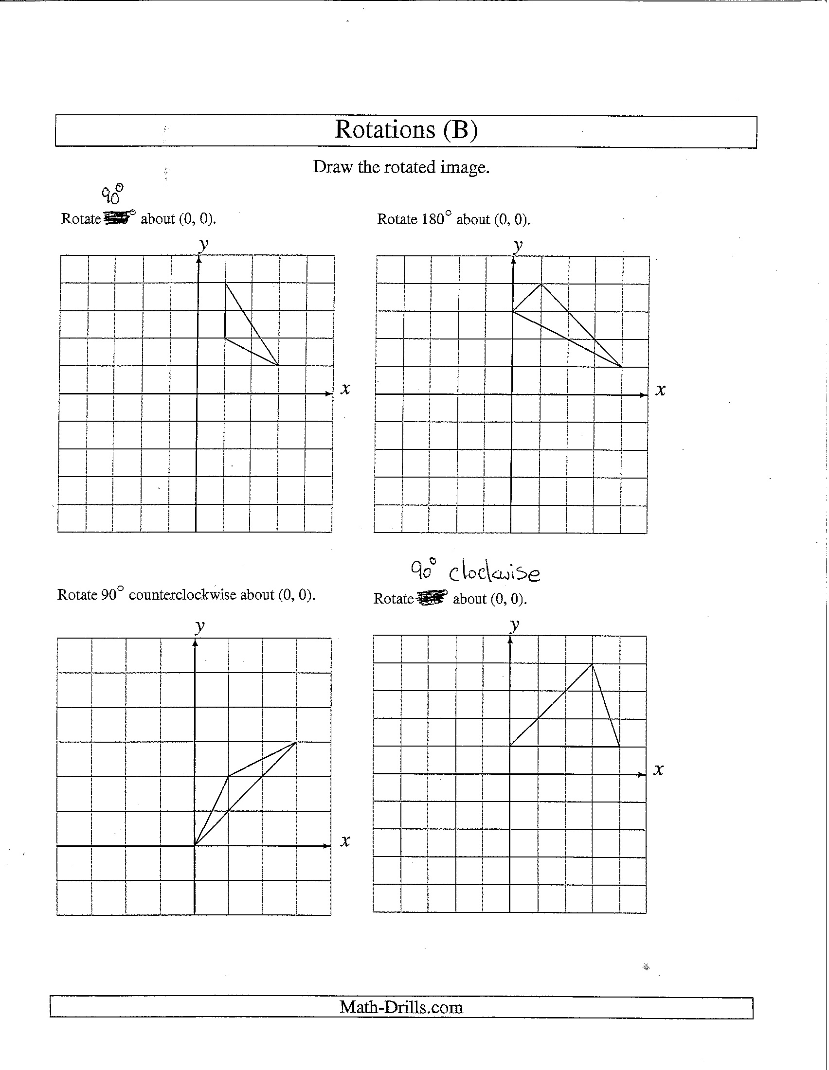Grade 7 Math Rotation Worksheets