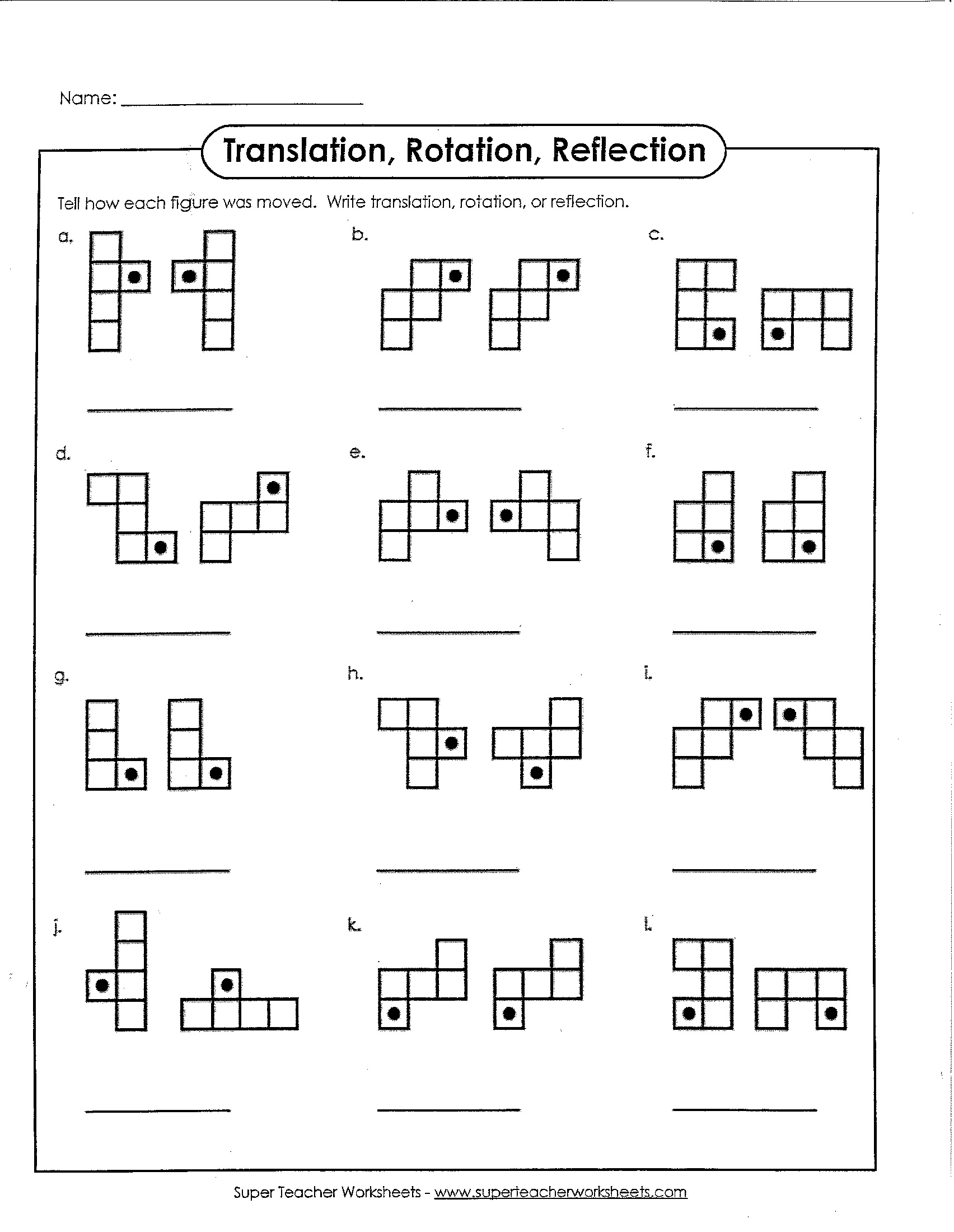 Math Dilation Worksheet