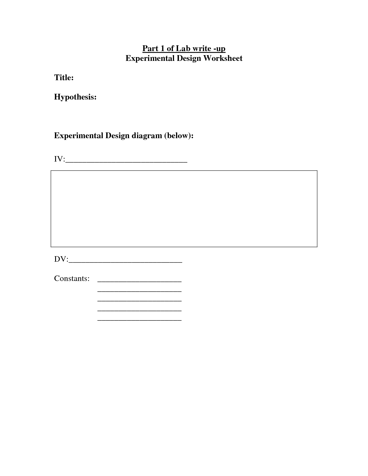 14 Best Images Of Experimental Design Worksheet Answer Key