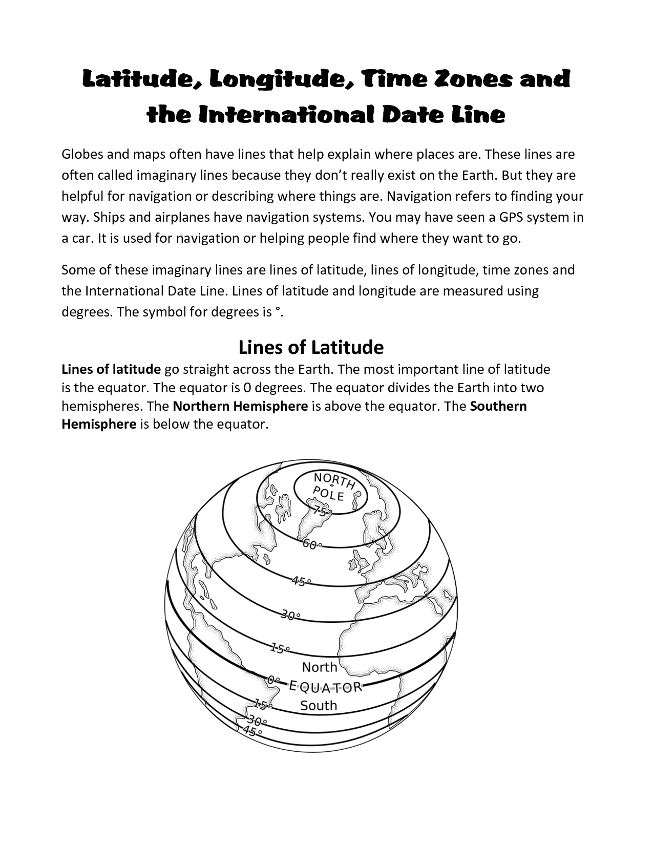 11 Best Images Of International Date Line Worksheet