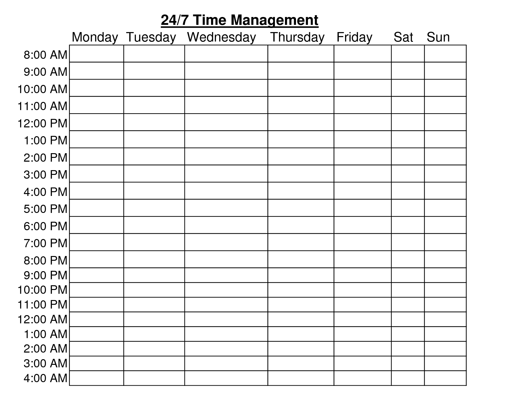 13 Best Images Of Time Management Worksheet Template