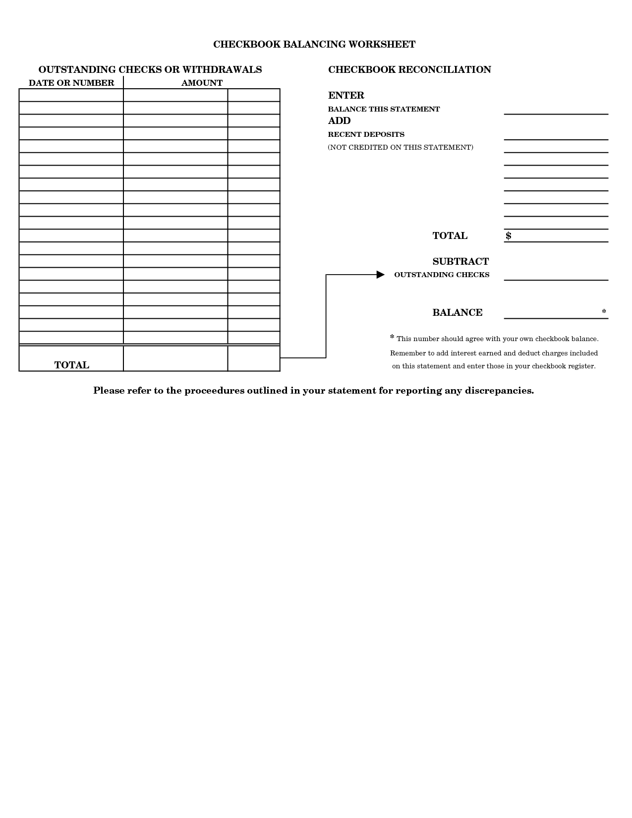 Checkbook Practice Worksheets