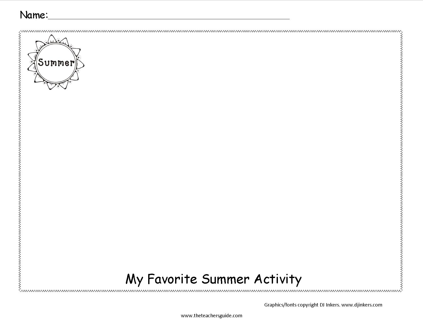11 Best Images Of Student Favorites Worksheet