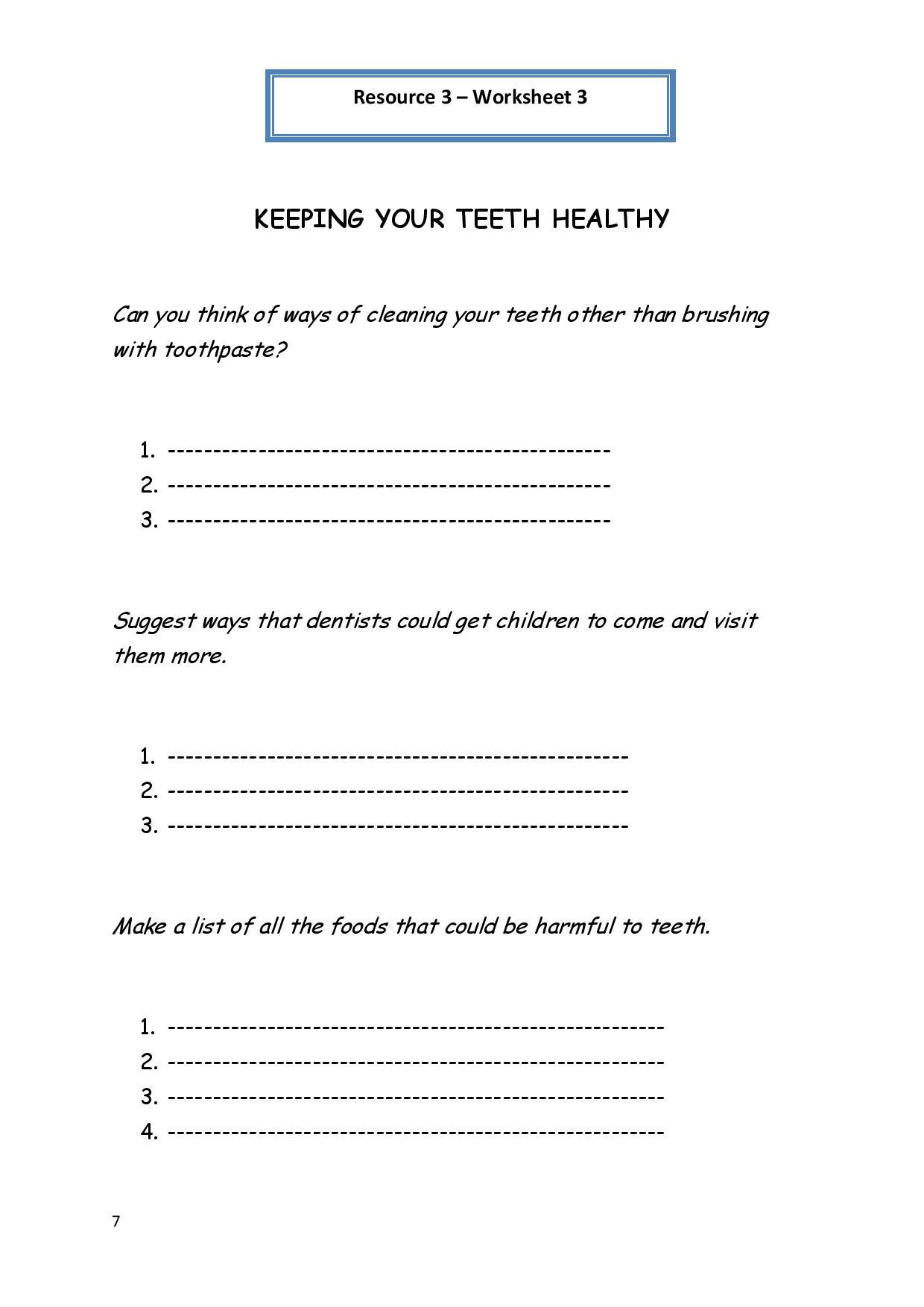 19 Best Images Of Printable Teen Hygiene Worksheets