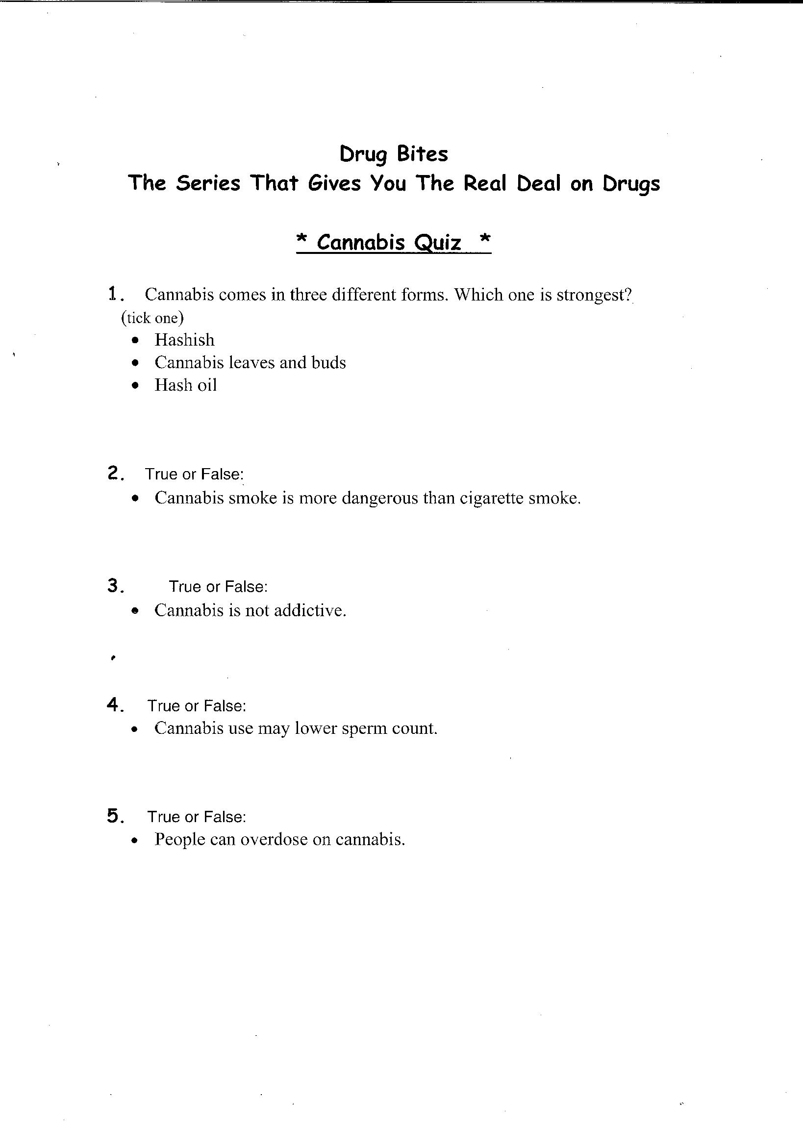 14 Best Images Of Printable Drug Worksheet