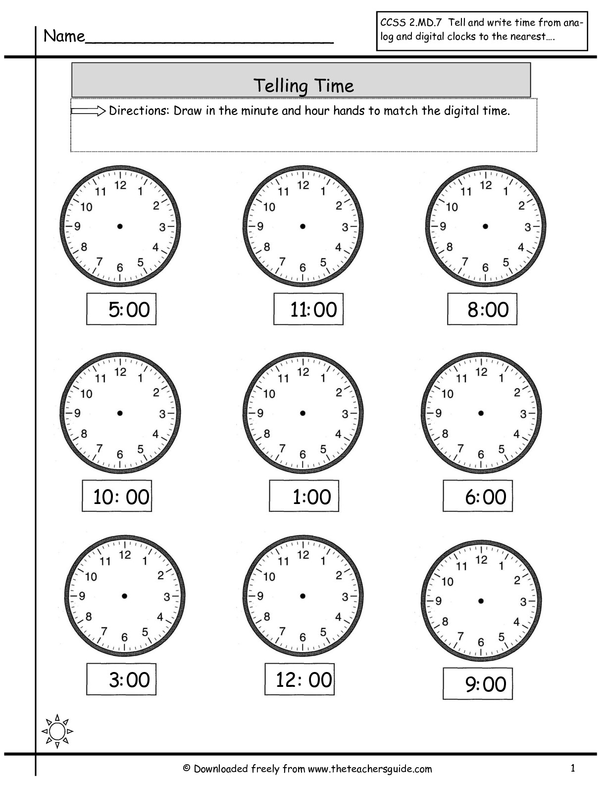 9 Best Images Of What Time Is It Worksheet