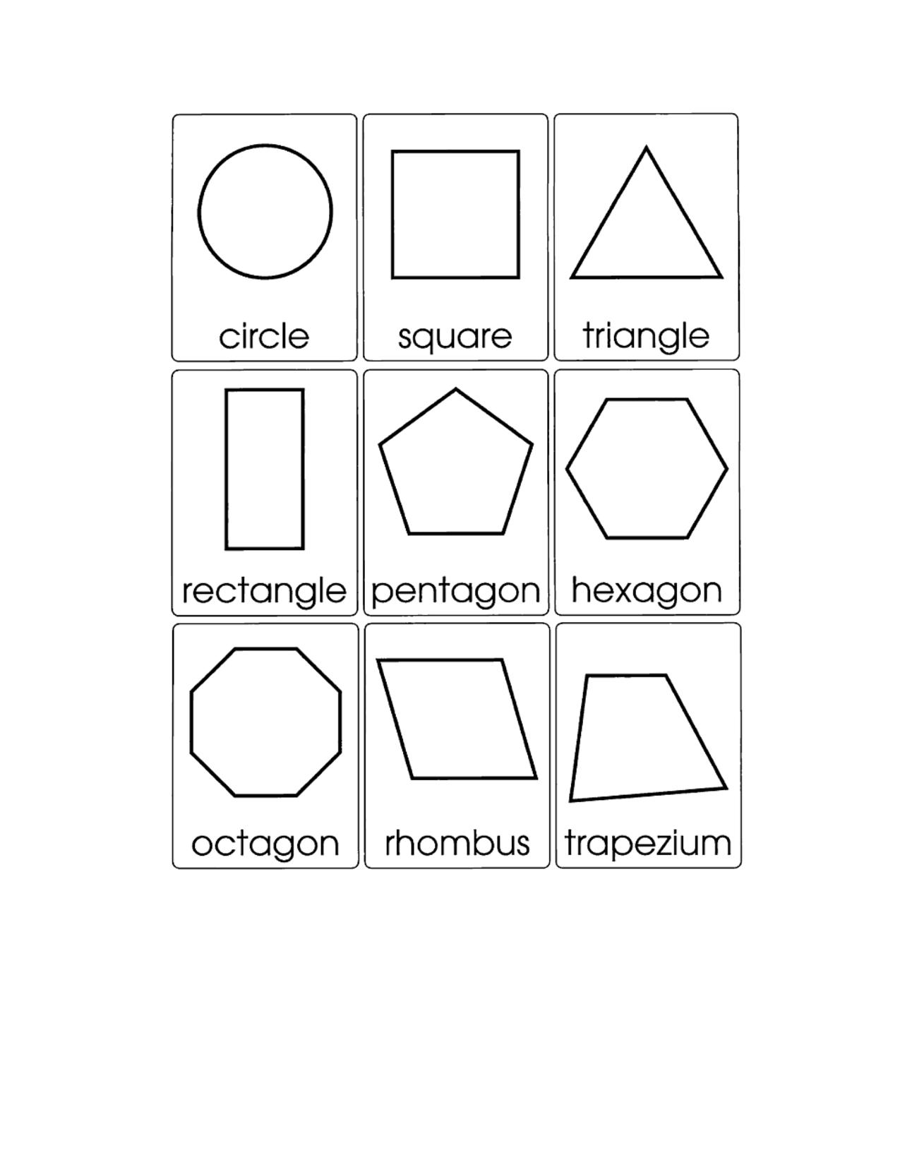 2 D Shapes Worksheet