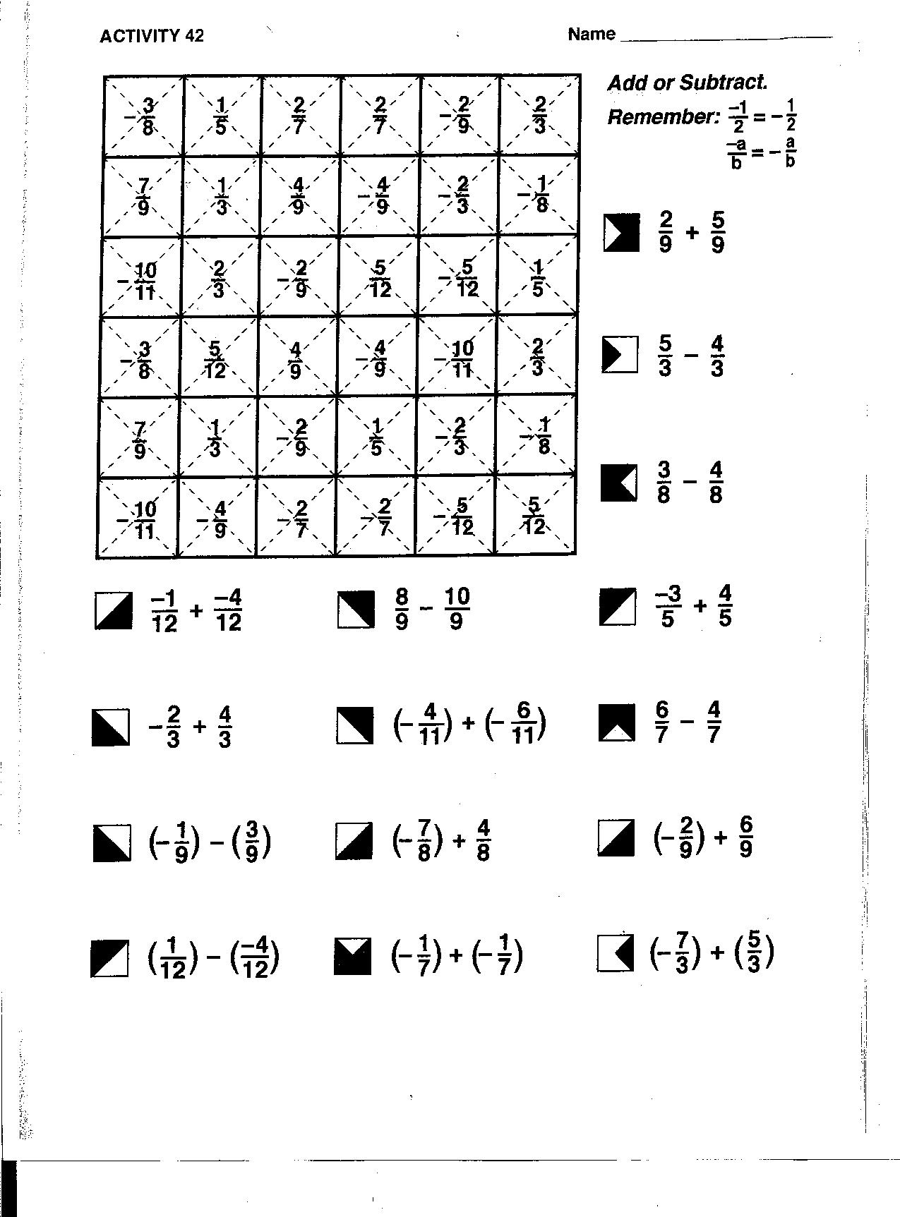8 Best Images Of Rational Numbers Worksheets Grade 6