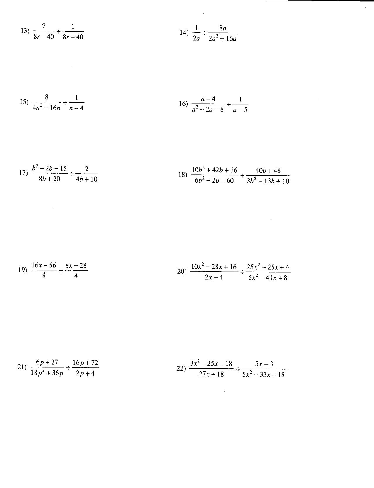 Rational Fractional Exponents Worksheet