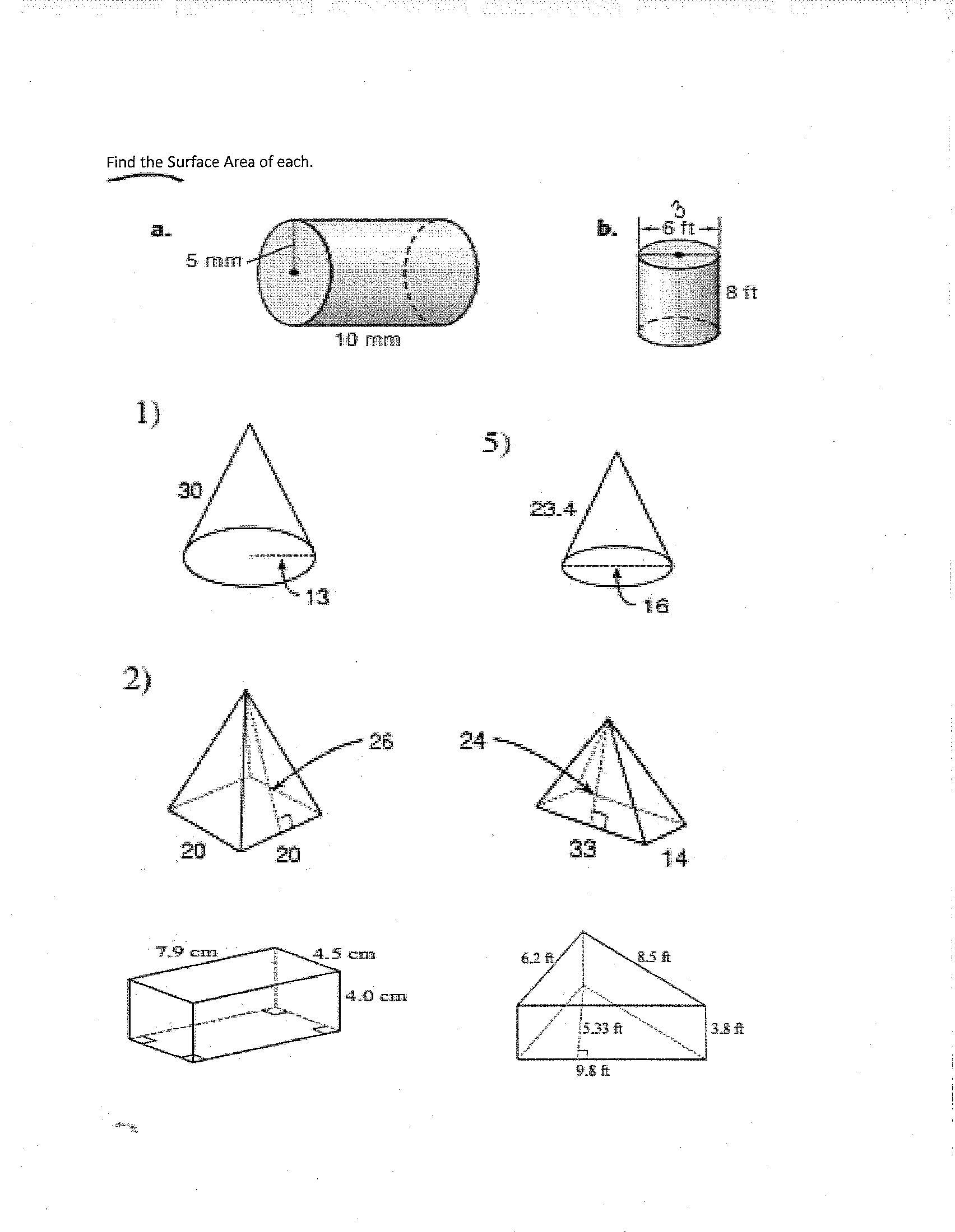 15 Best Images Of Surface Area Worksheets 6th Grade