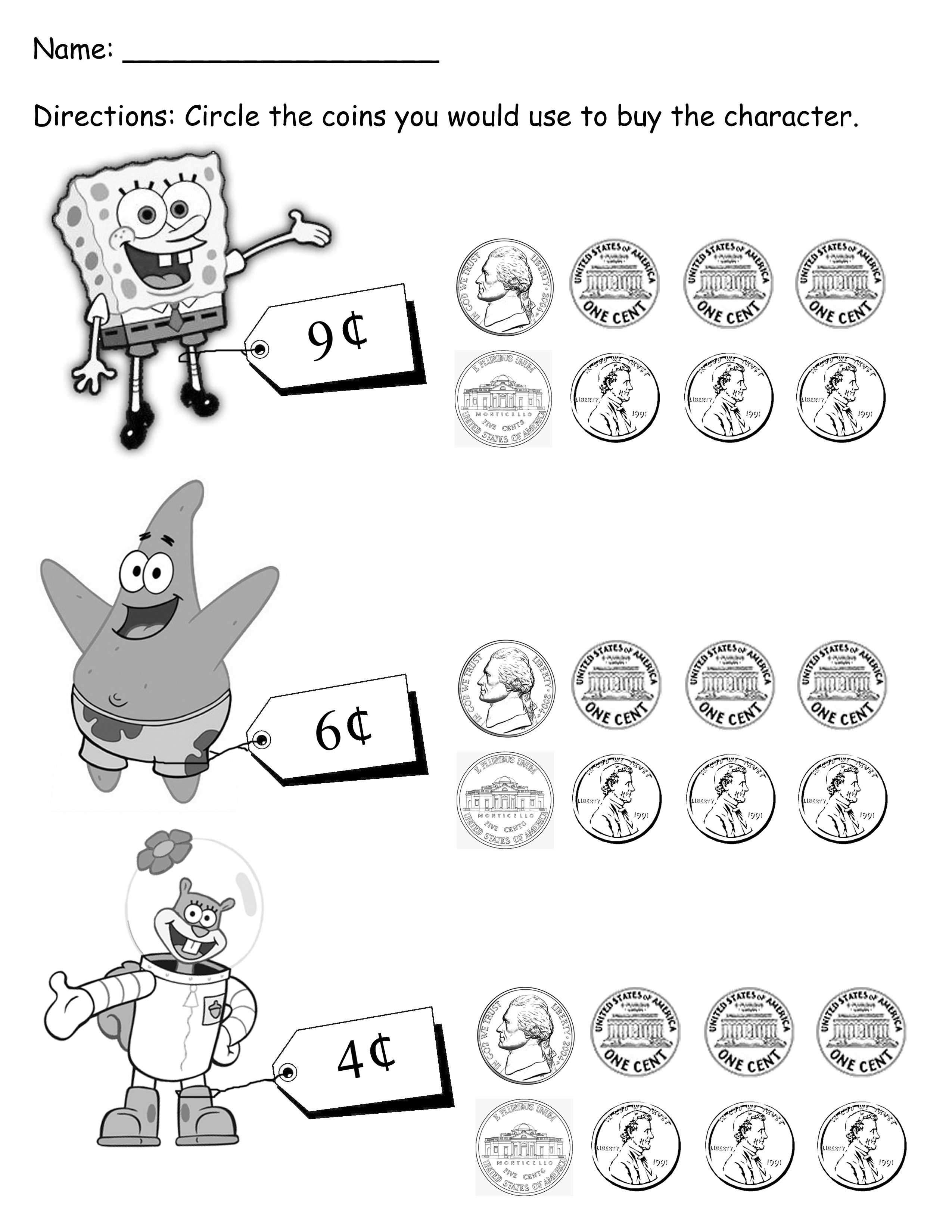 8 Best Images Of Students Working With Money Worksheets