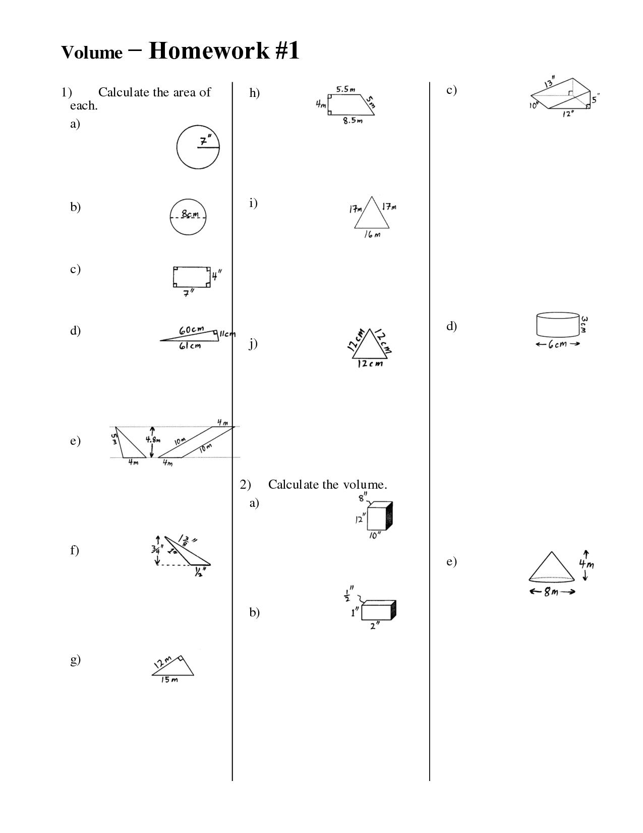 12 Best Images Of Volume Worksheets 6th Grade Math