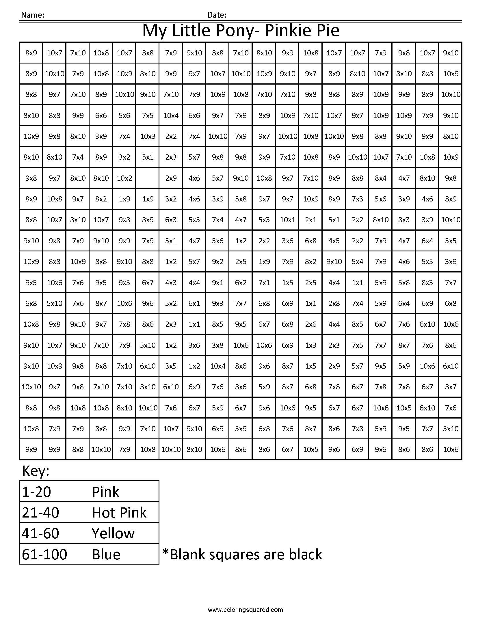 15 Best Images Of Color By Multiplication Worksheets