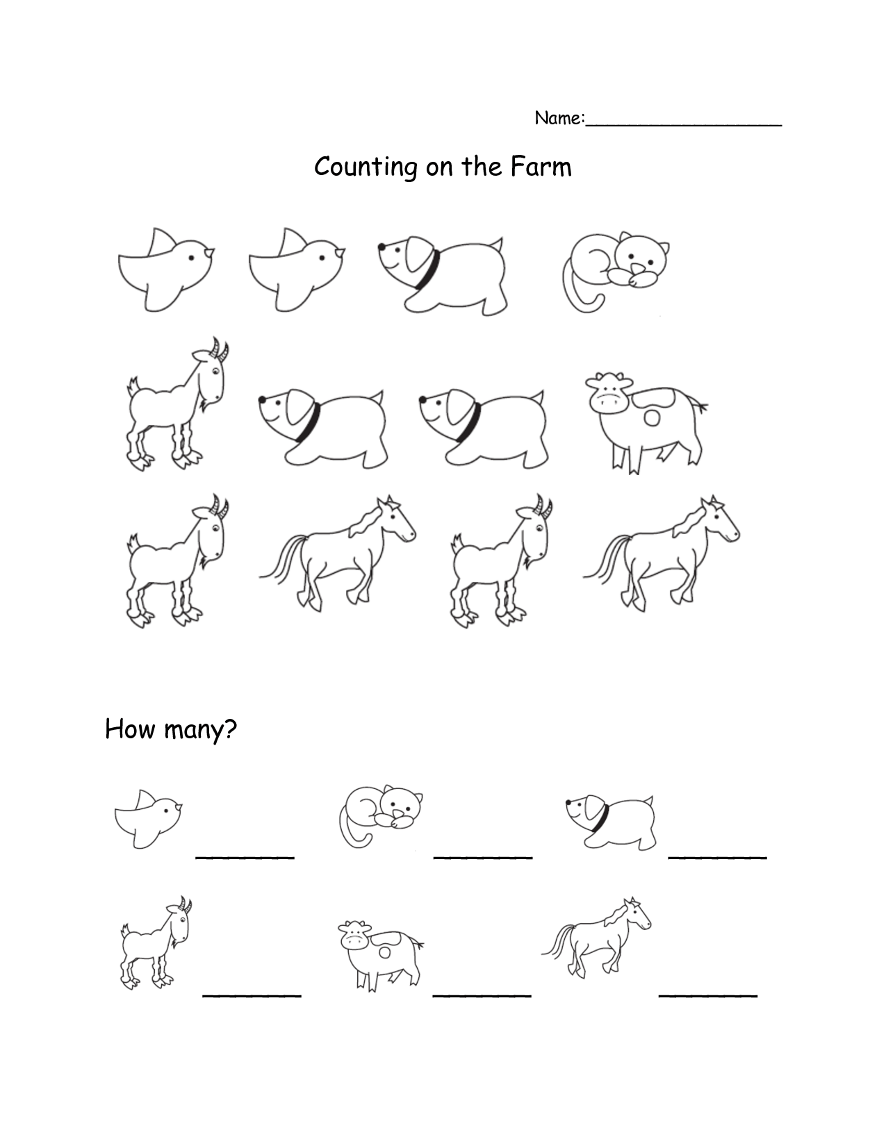 12 Best Images Of Science Worksheets Farm Animals