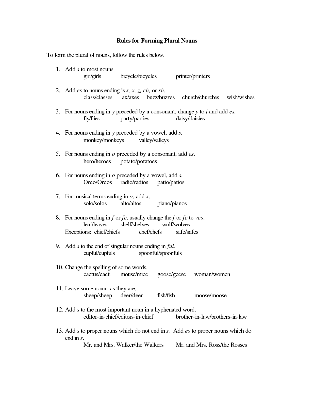16 Best Images Of Singular Plural Nouns Worksheets 2nd