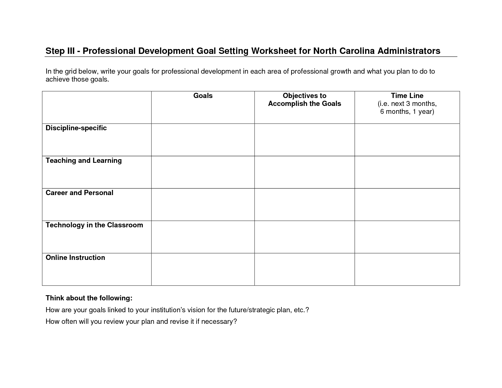 18 Best Images Of Goal Planning Worksheet For Teens