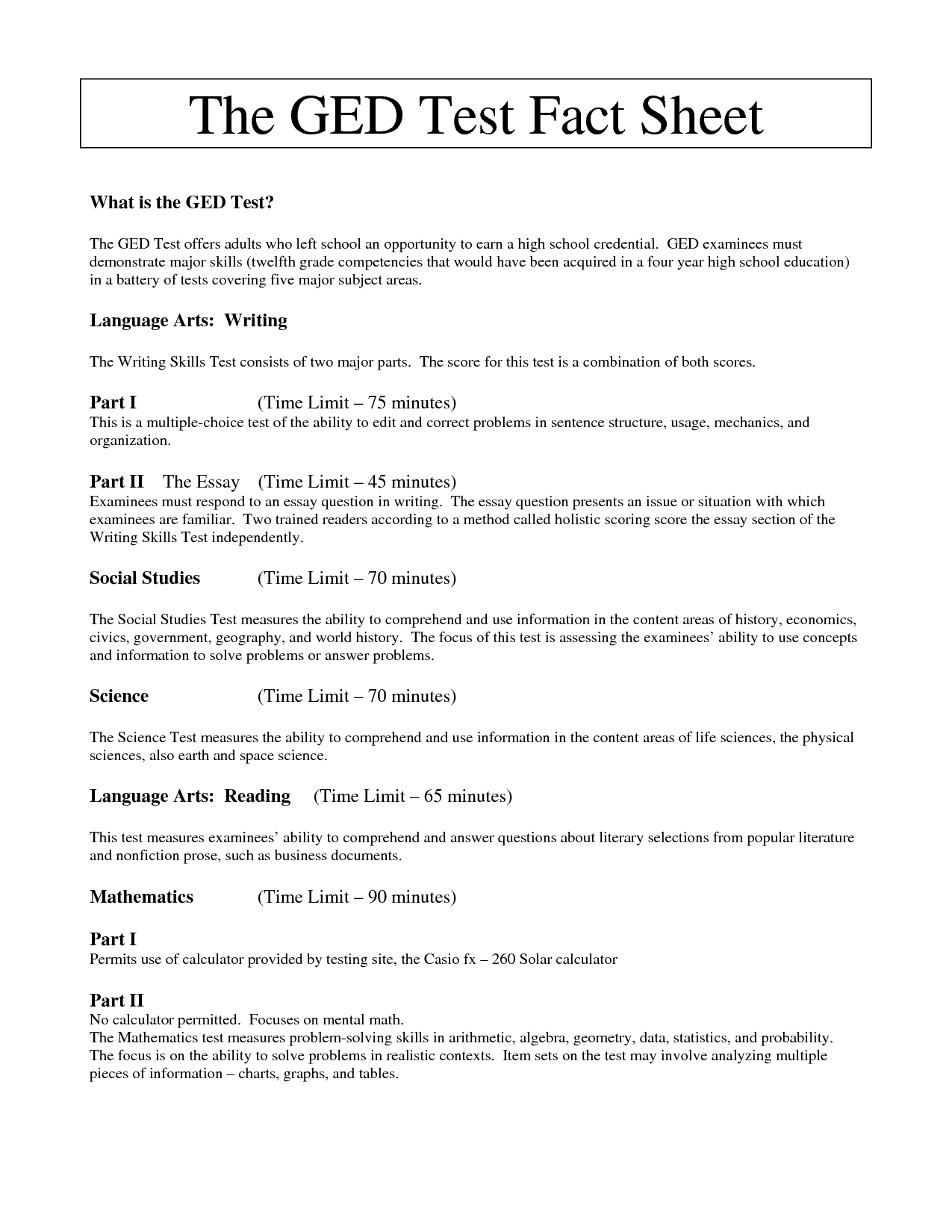 Ged Printable Practice Tests That Are Nerdy