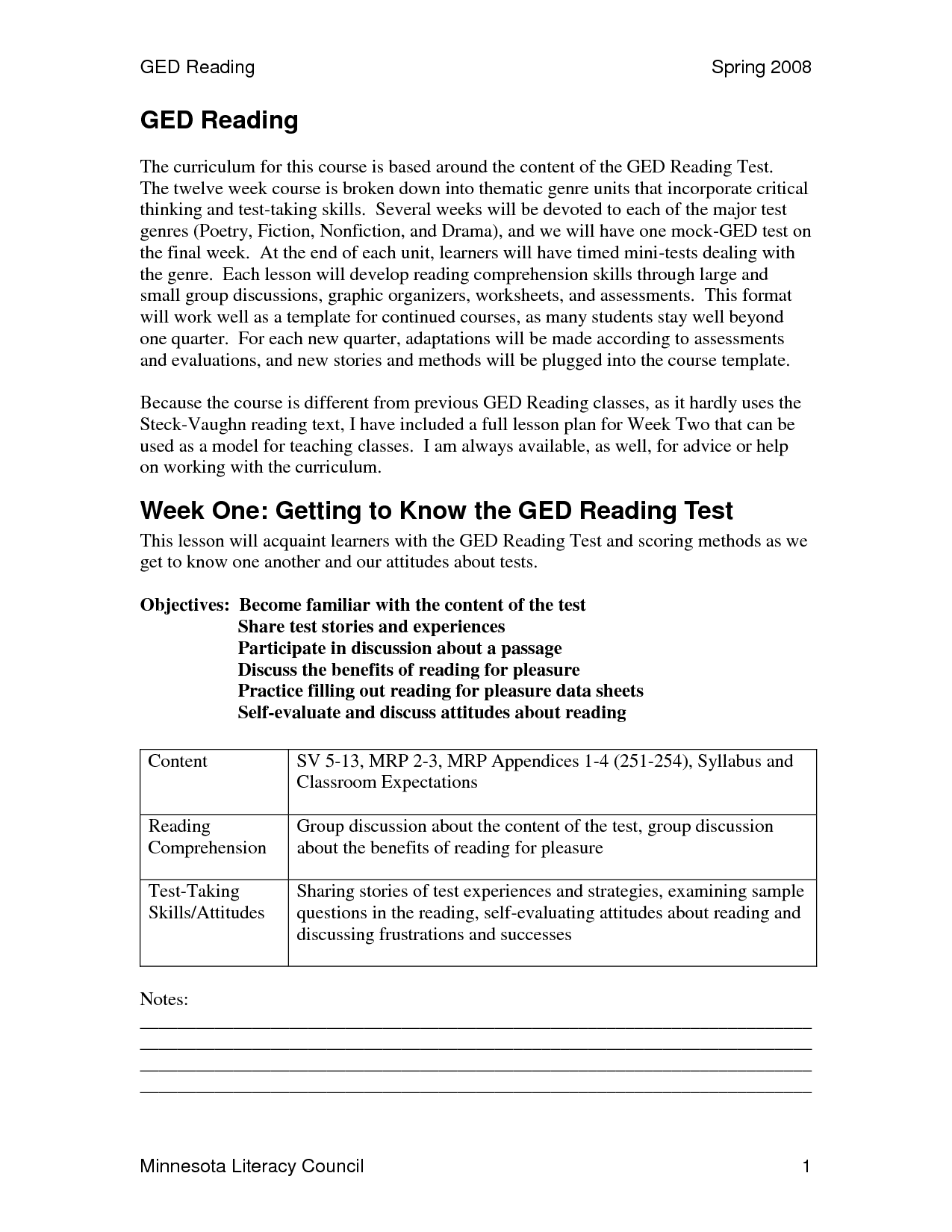 Print Out Ged Worksheet