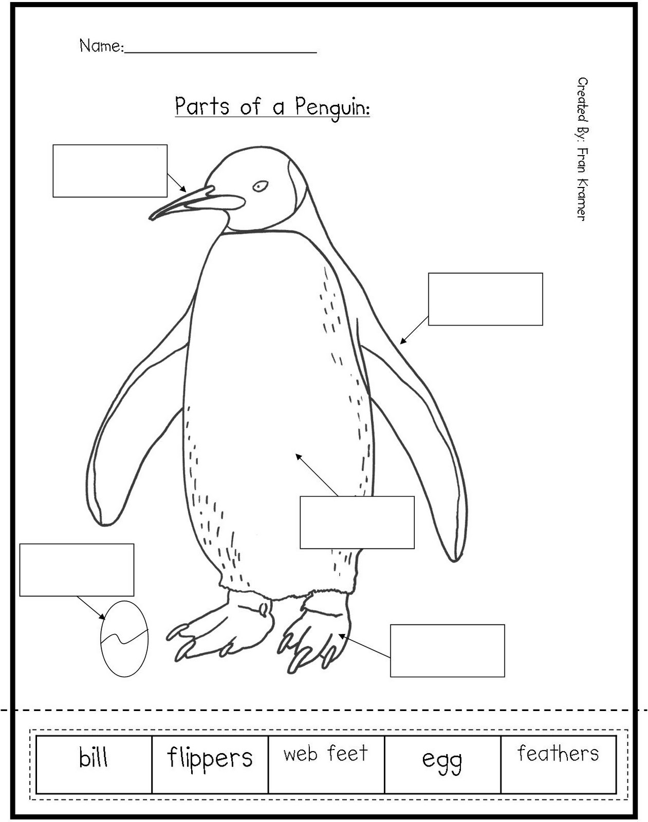 10 Best Images Of Penguin Preschool Worksheets