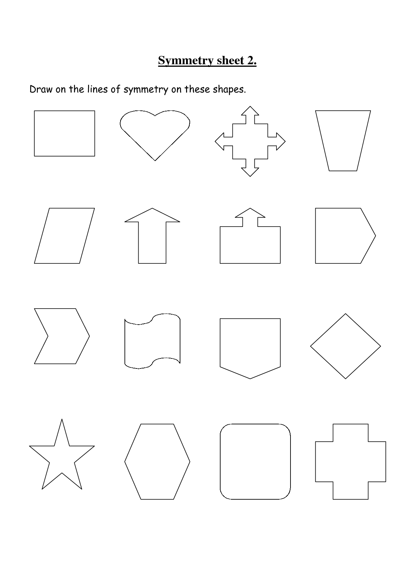 Jets Lines Of Symmetry Worksheet
