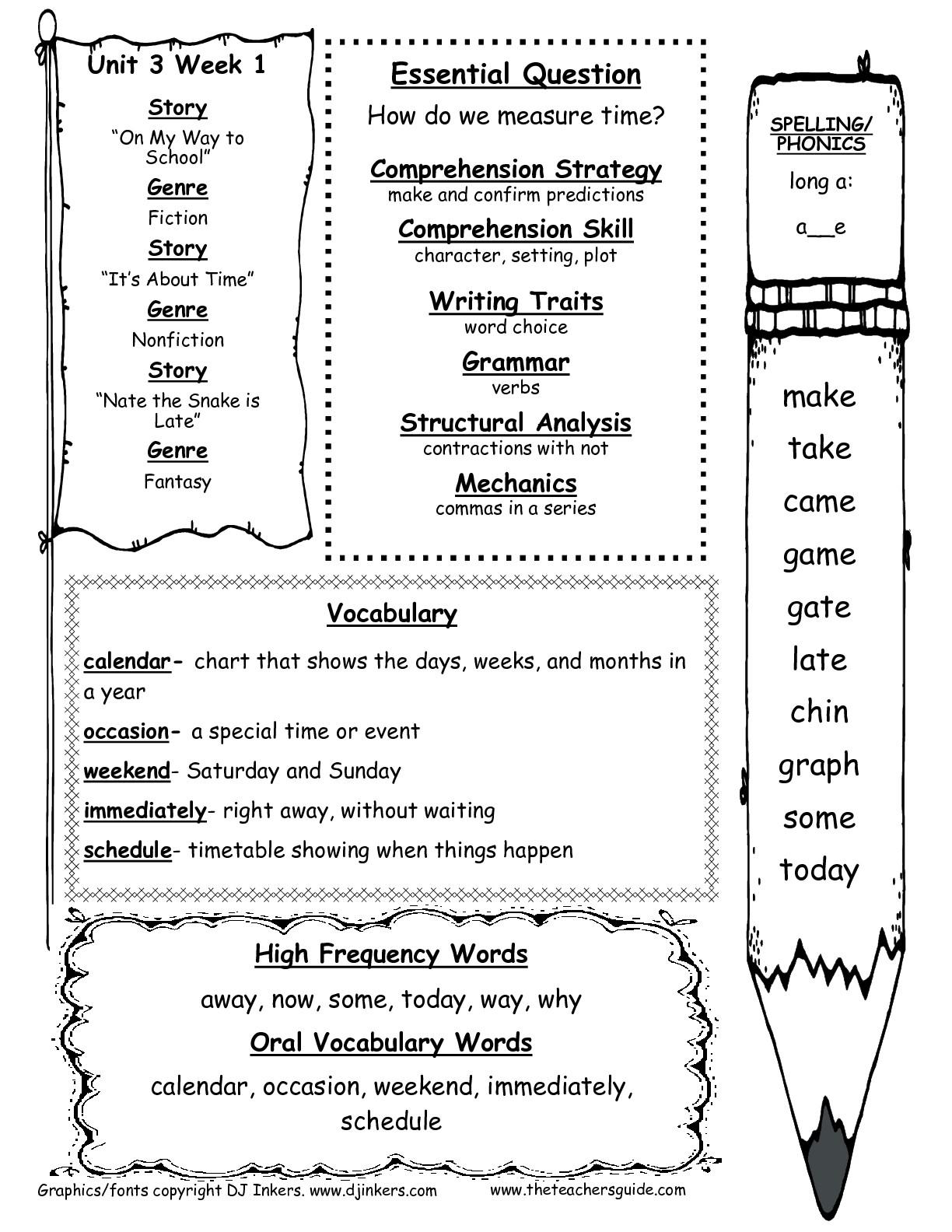 14 Best Images Of 1 Teacher Worksheets
