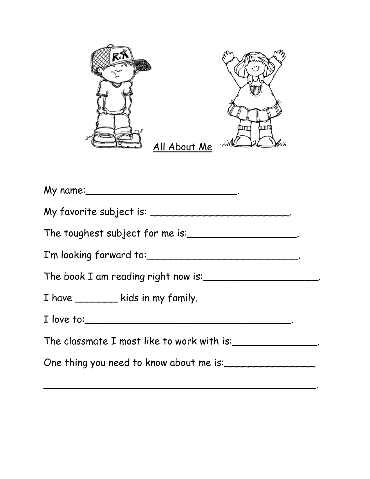 12 Best Images Of My Favorite Book Worksheet Kindergarten