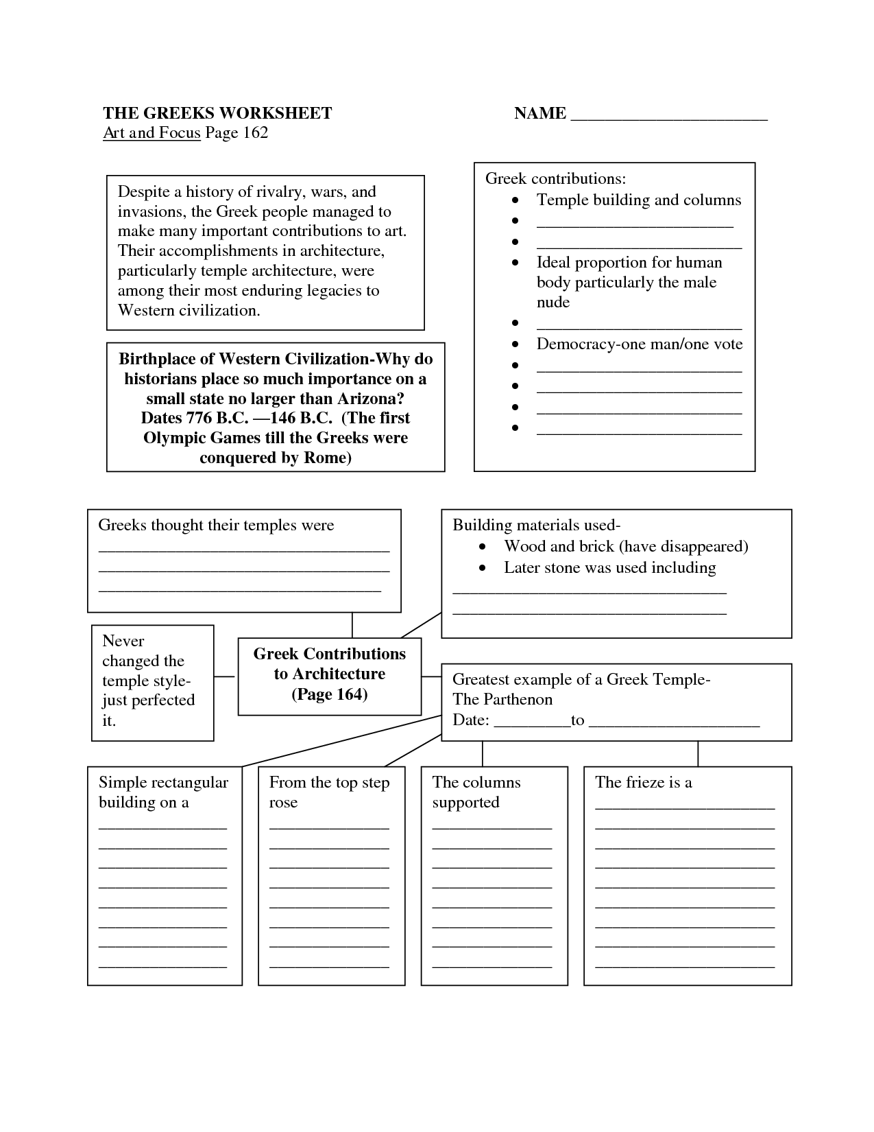 Greek Mythology Worksheet 9th Grade Printable