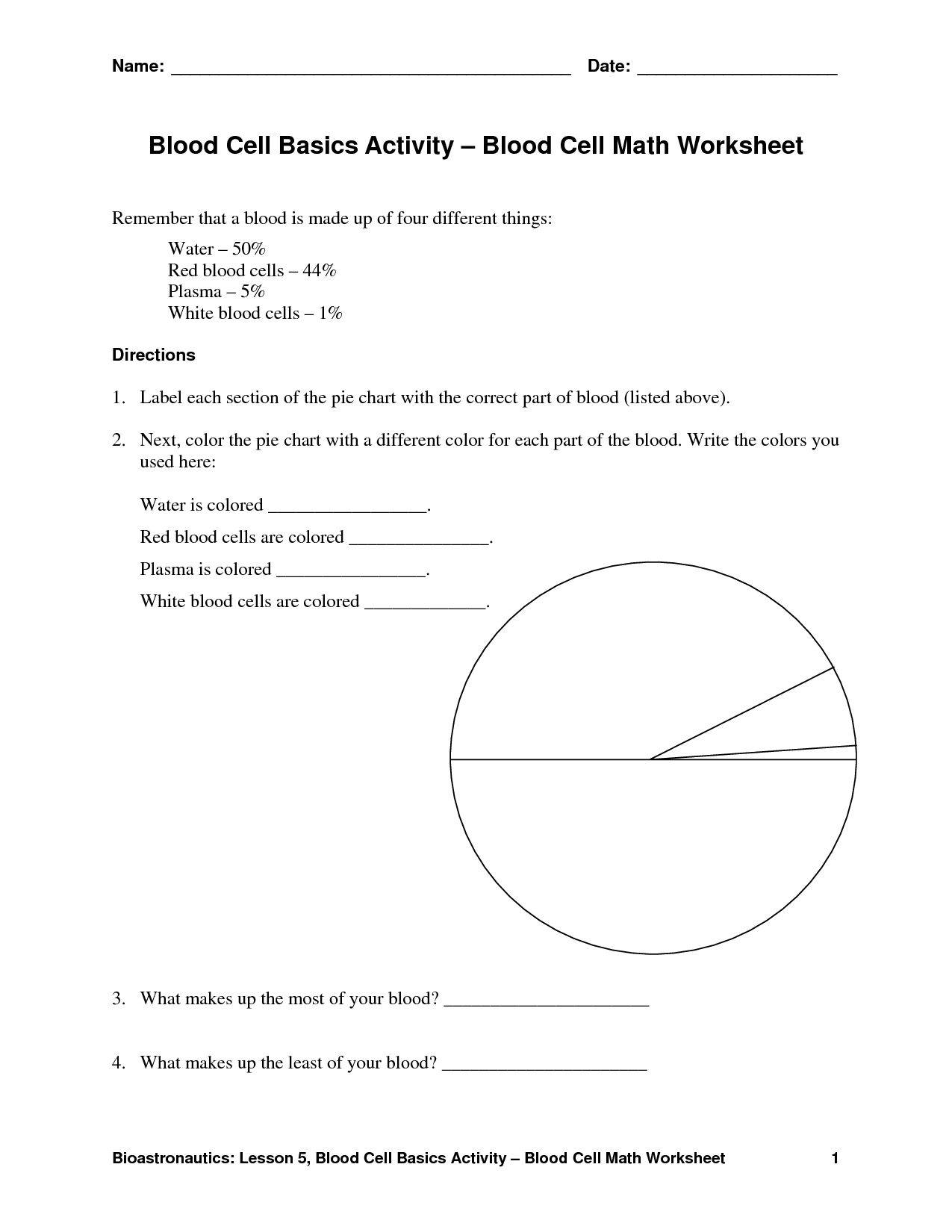 15 Best Images Of Blood Cells And Functions Worksheets