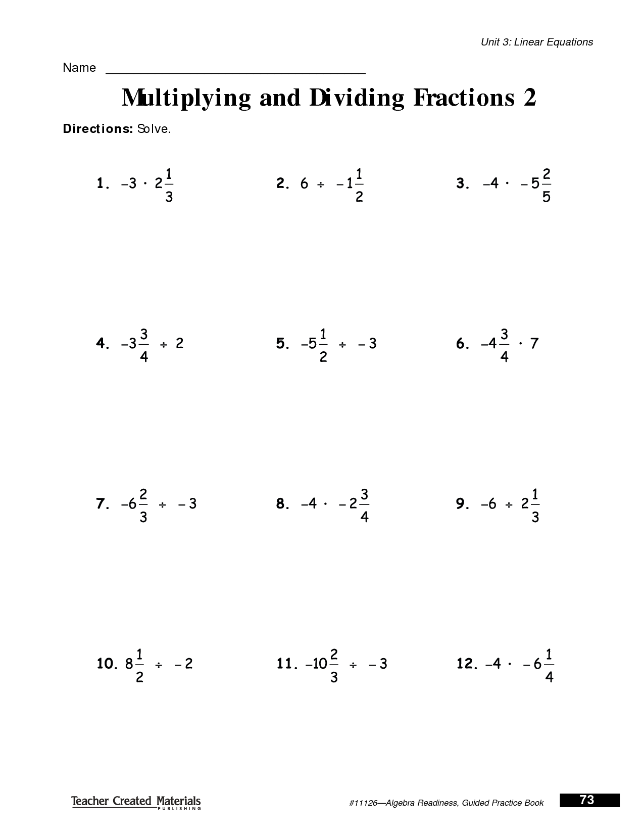 11 Best Images Of Multiplying Fraction Practice Worksheets