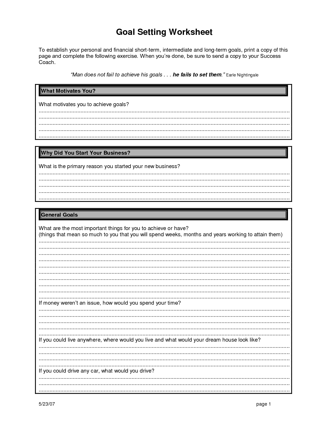 12 Best Images Of Business Financial Worksheet Templates