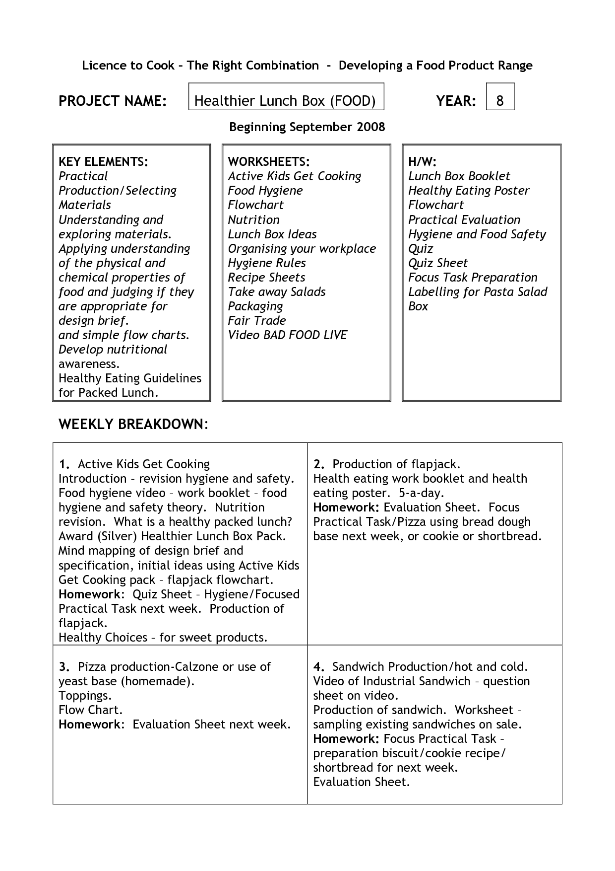 Sanitation Worker Worksheet