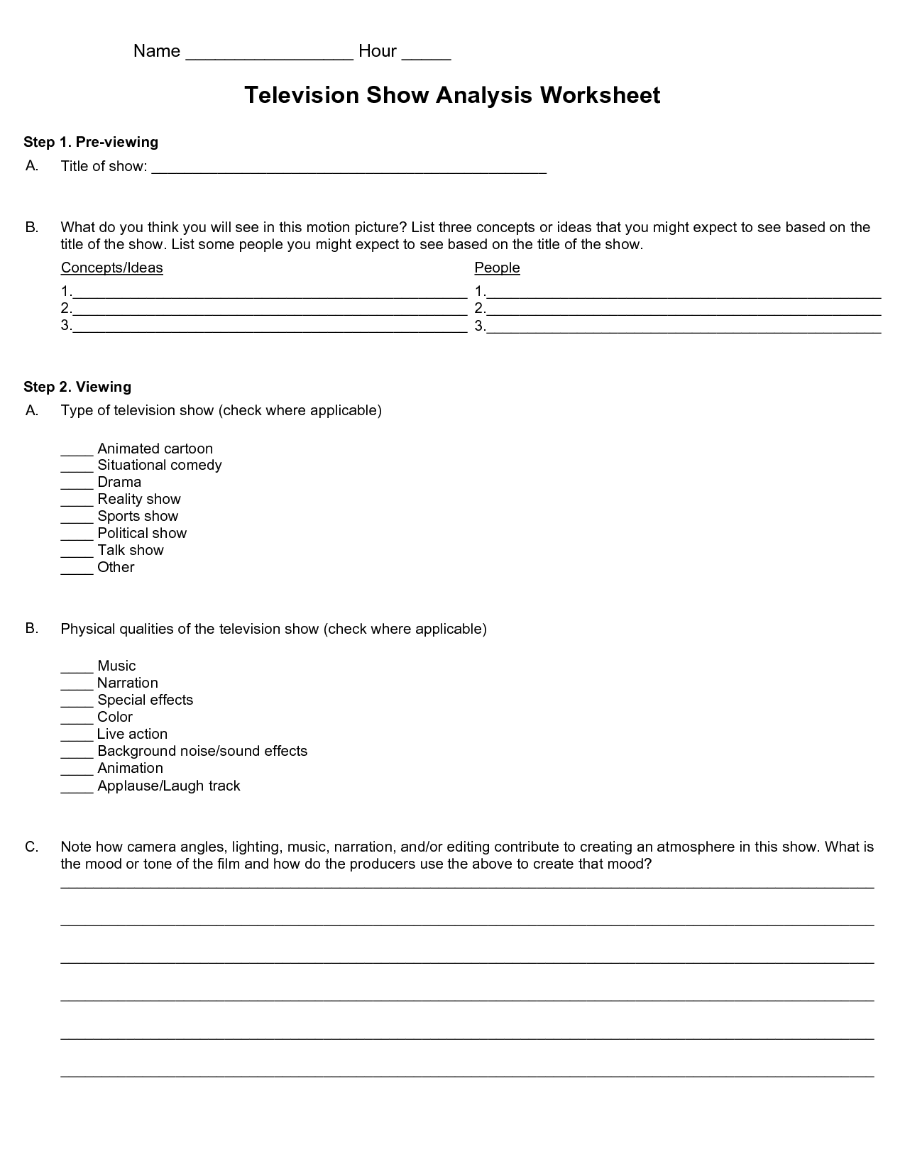 9 Best Images Of Drama Terms Worksheet With