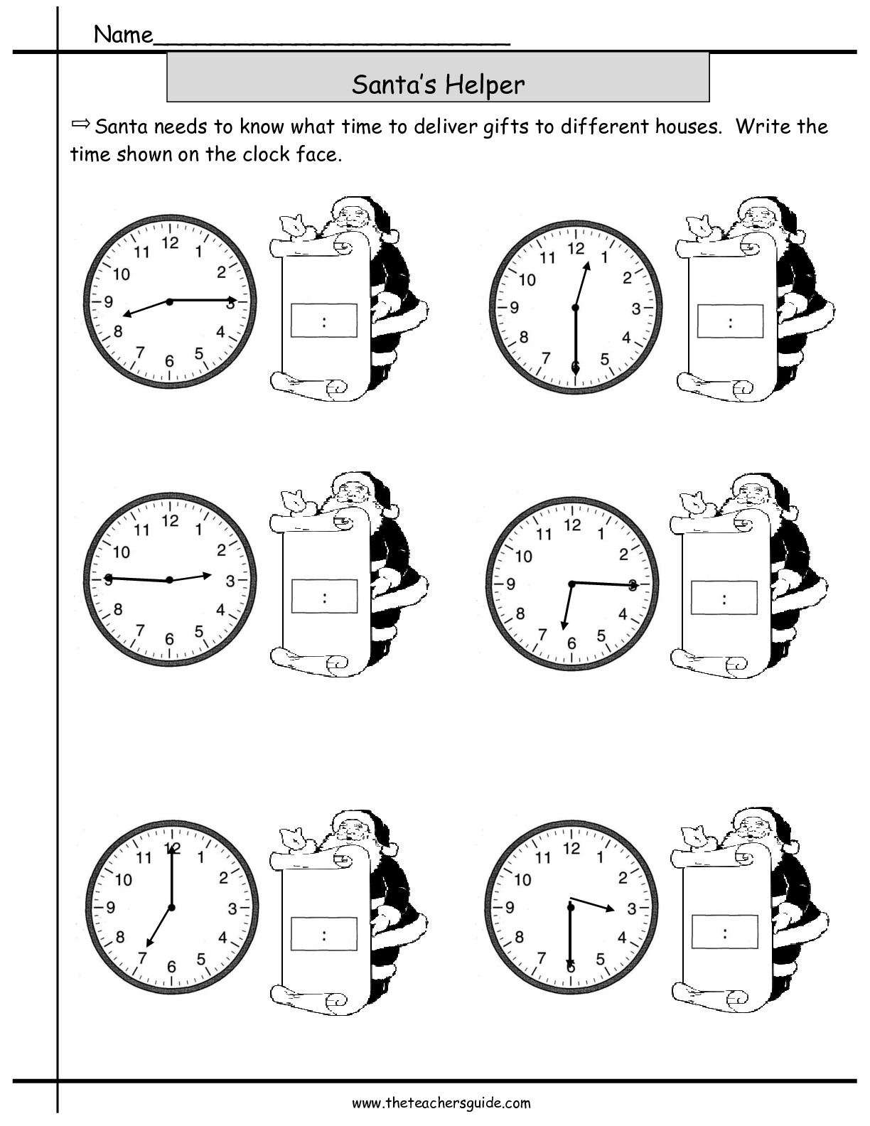 11 Best Images Of Christmas Time Worksheets